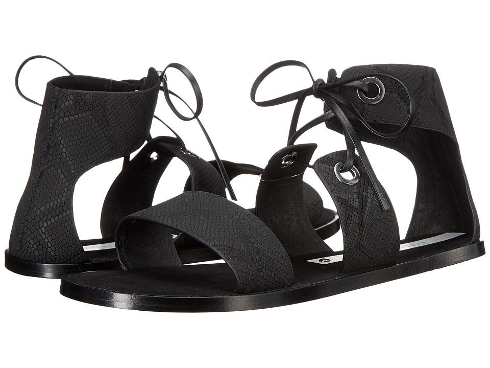 Matt Bernson Cleo Black Fine Snake Womens Shoes