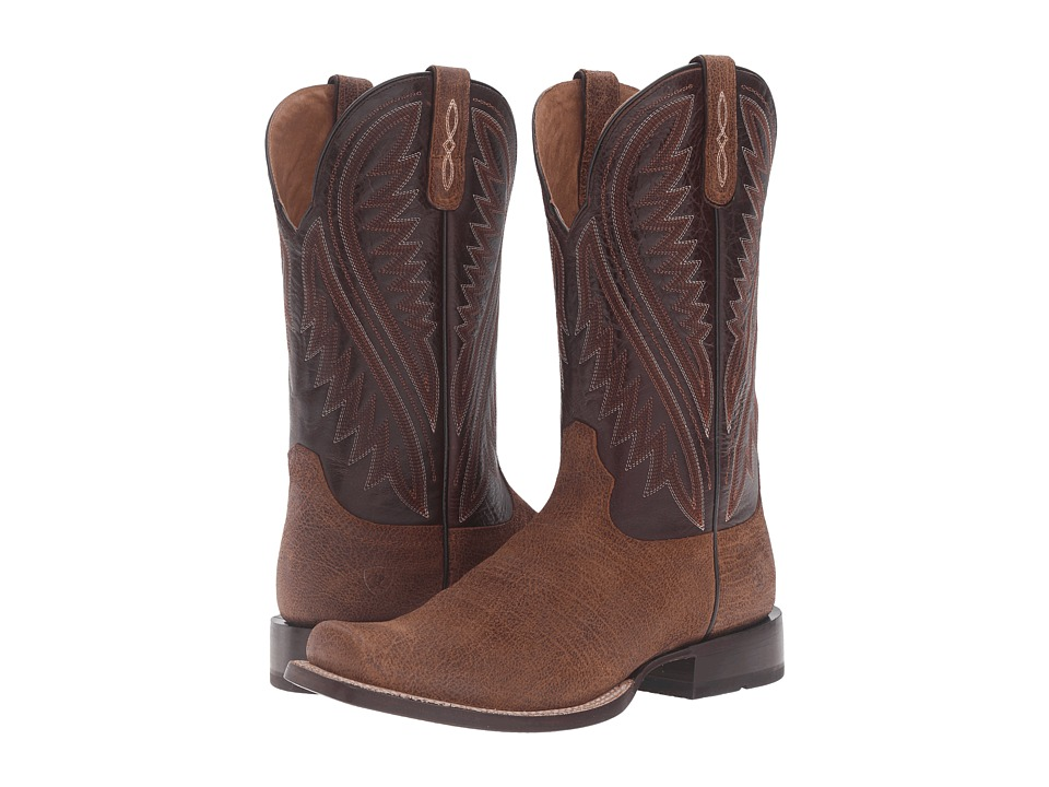 Ariat Hoolihan (Tan Oil Gaucho/Bitter Chocolate) Cowboy Boots
