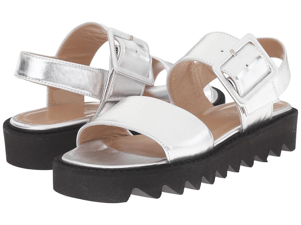 ASKA Ellis Silver Smooth Womens Sandals