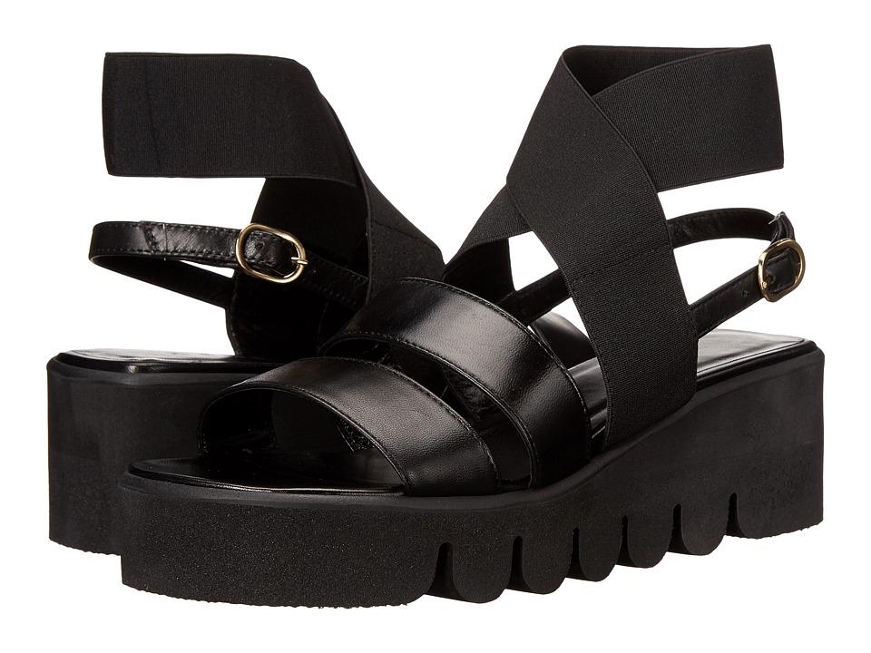ASKA Harper Black Smooth Womens Sandals