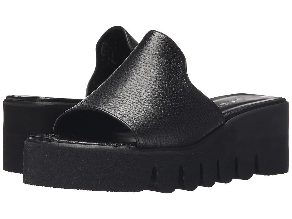ASKA Hadley Black Tumbled Womens Sandals