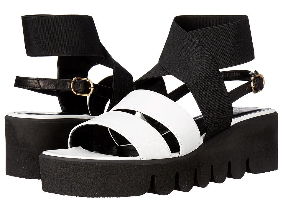 ASKA Harper Black/White Womens Sandals