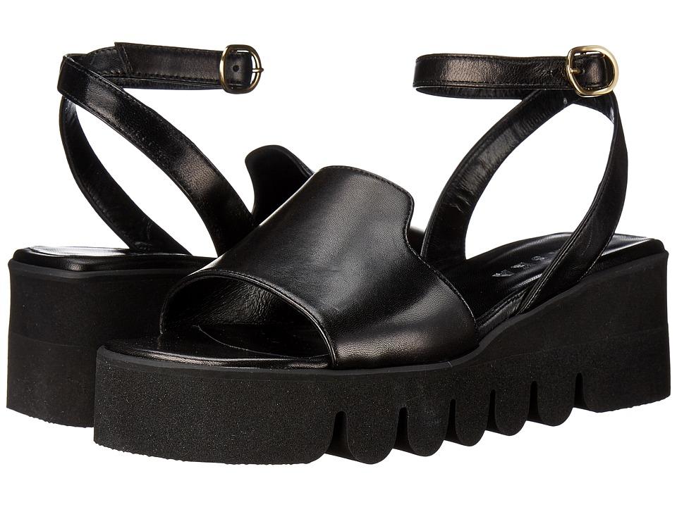 ASKA Helen Black Smooth Womens Sandals