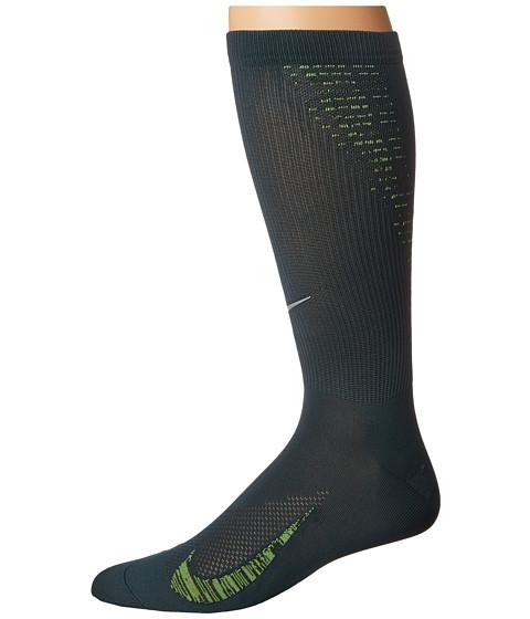 Nike Elite Run Lightweight 2.0 Crew - Seaweed/Volt/Reflective Silver