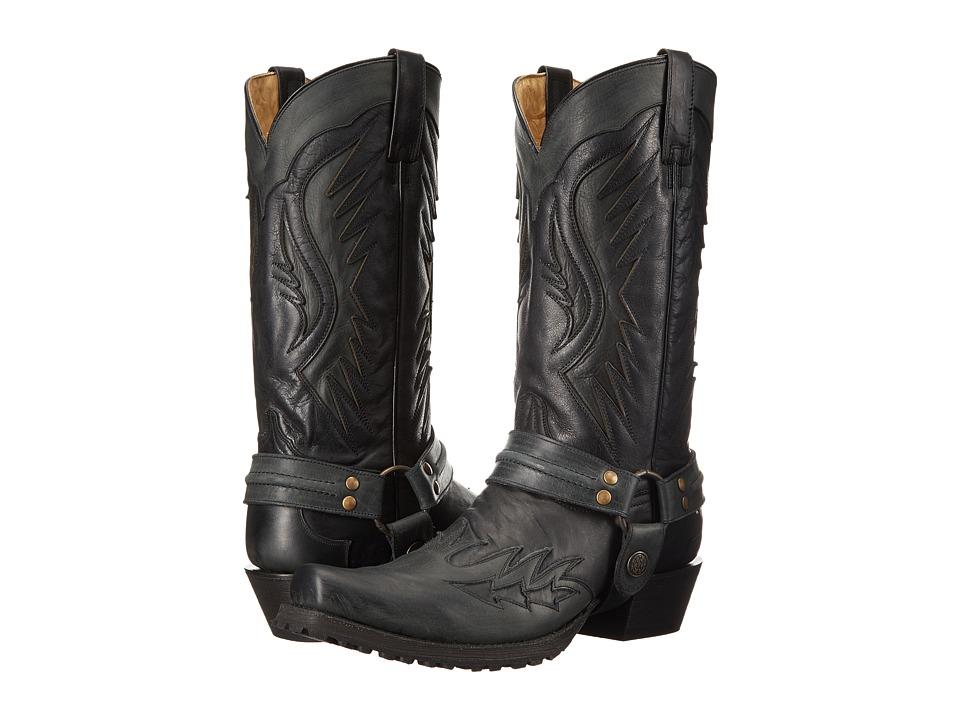 Stetson Biker Outlaw (Black) Cowboy Boots