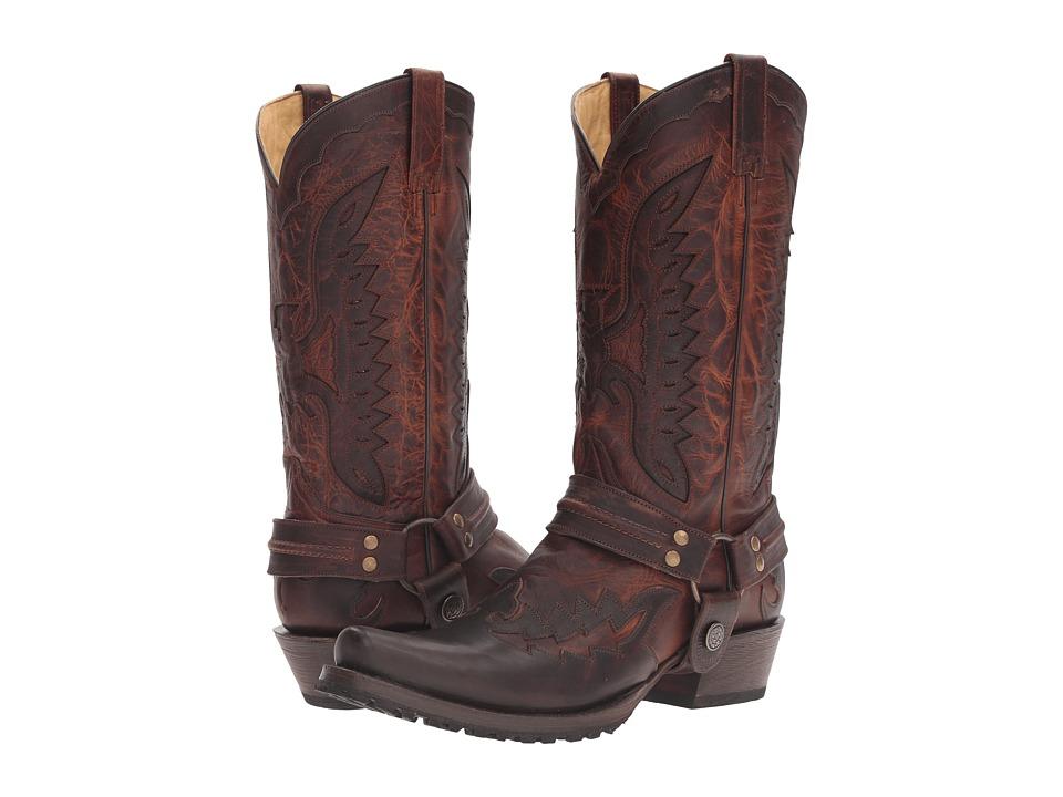 Stetson Biker Outlaw (Brown) Cowboy Boots