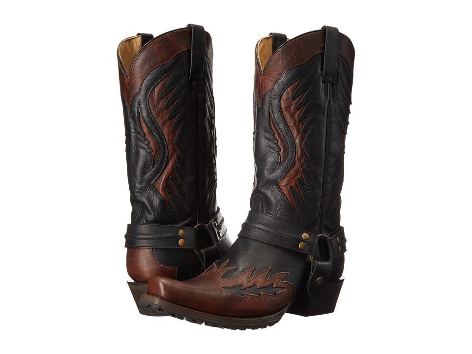Stetson Biker Outlaw (Brown/Black) Cowboy Boots