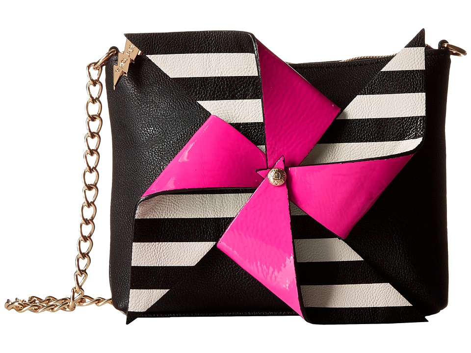 Betsey Johnson - Pinwheel Crossbody (Black) Cross Body Handbags