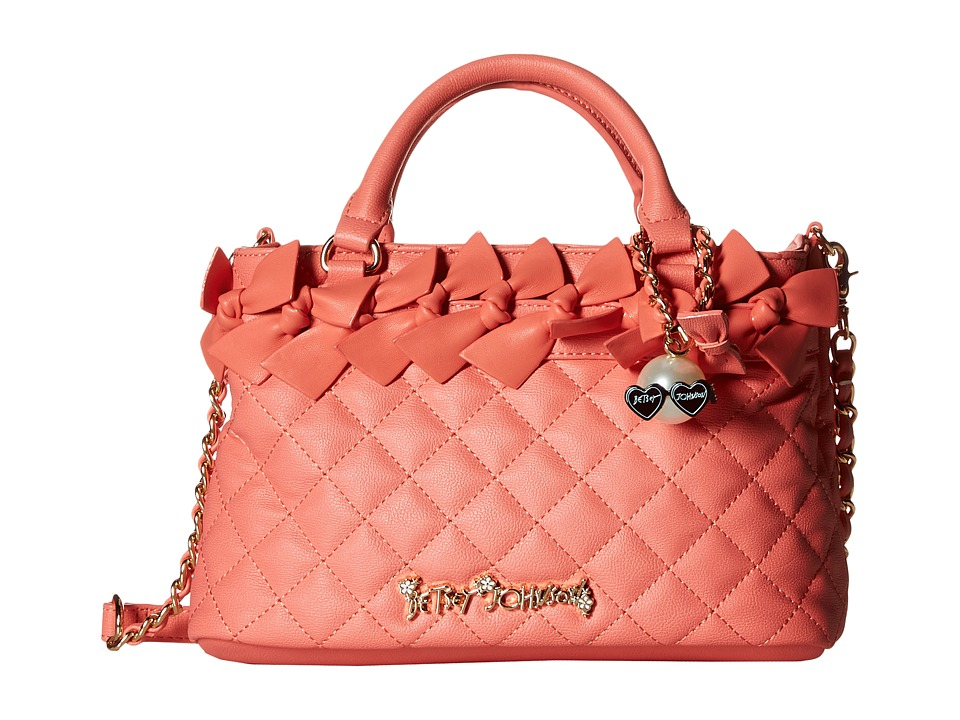 Betsey Johnson - Family Ties Mini Satchel (Coral) Satchel Handbags