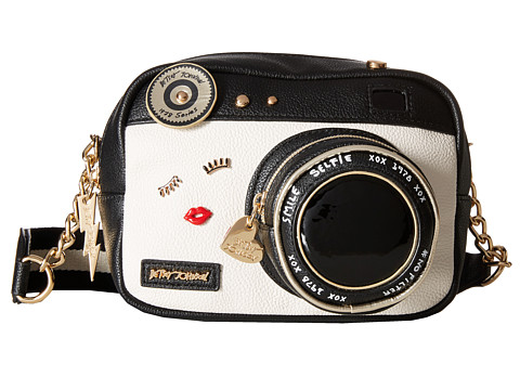Betsey Johnson Kitsch Camera Crossbody - Black