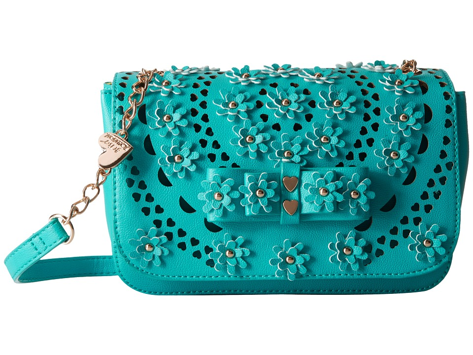 Betsey Johnson - Rosie Posie Crossbody (Turquoise) Cross Body Handbags