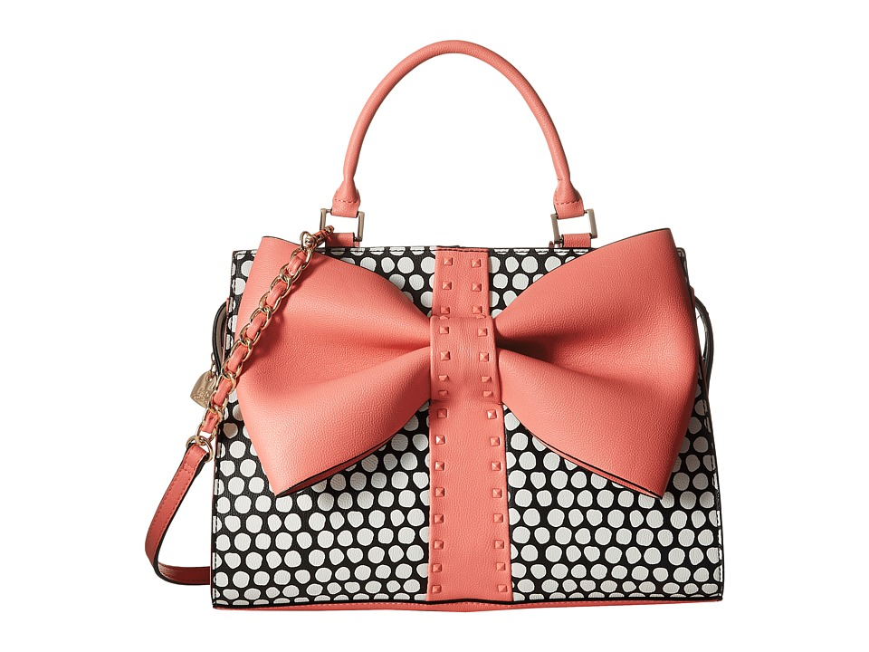 Betsey Johnson - Curtsy Satchel (Coral) Satchel Handbags
