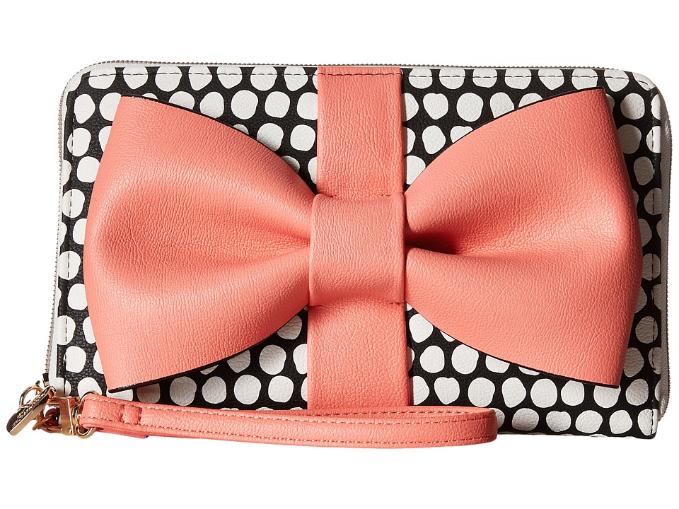 Betsey Johnson - Curtsy Wallet (Coral) Wallet Handbags