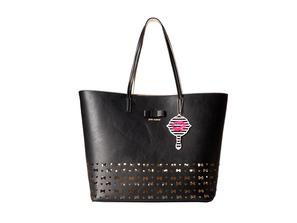 Betsey Johnson - Laser Tag Tote (Black) Tote Handbags