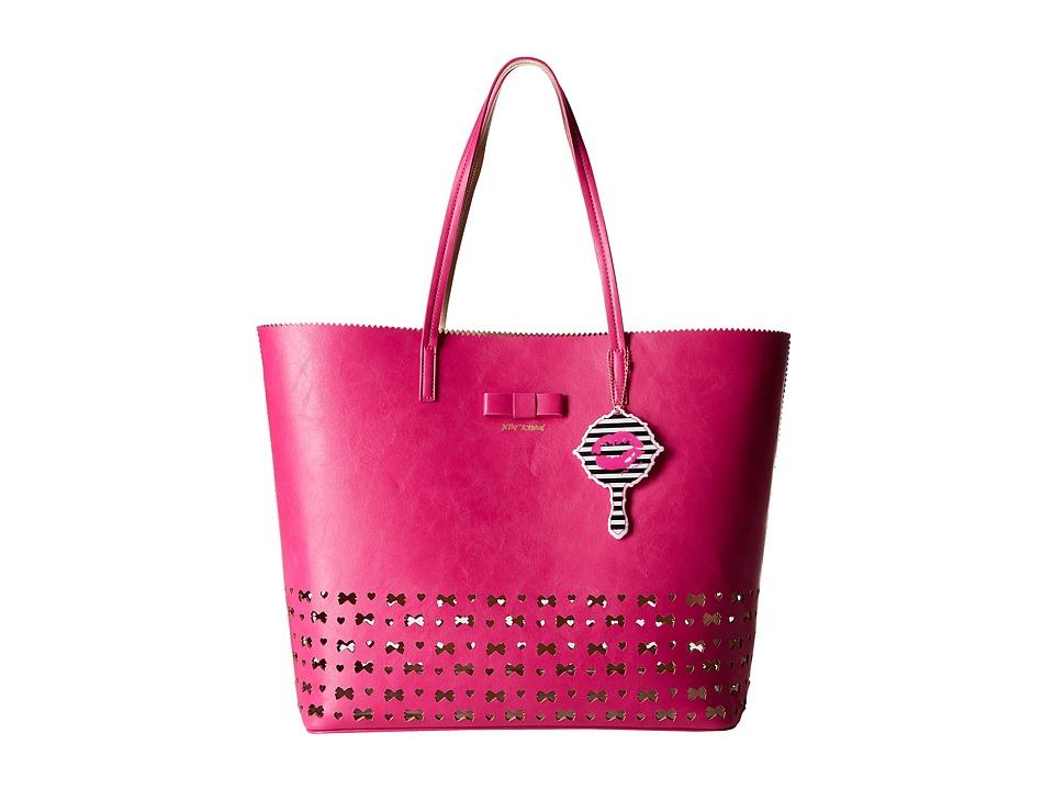 Betsey Johnson - Laser Tag Tote (Fuchsia) Tote Handbags