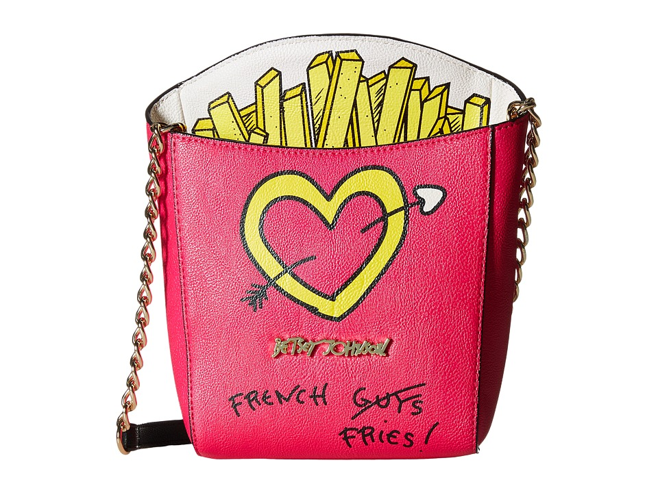 Betsey Johnson - Kitsch French Fries Crossbody (Fuchsia) Cross Body Handbags