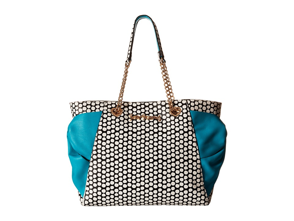 Betsey Johnson - Hotty Pocket Tote (Turquoise) Tote Handbags