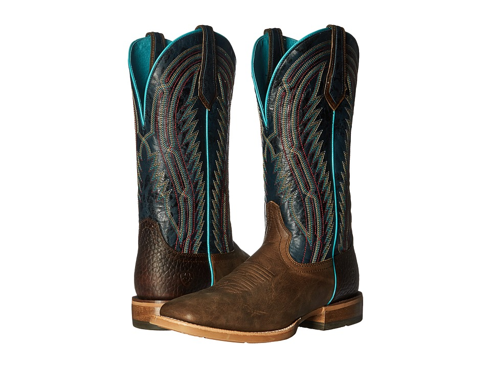 Ariat Chute Boss (Branding Iron Brown/Estate Blue) Cowboy Boots