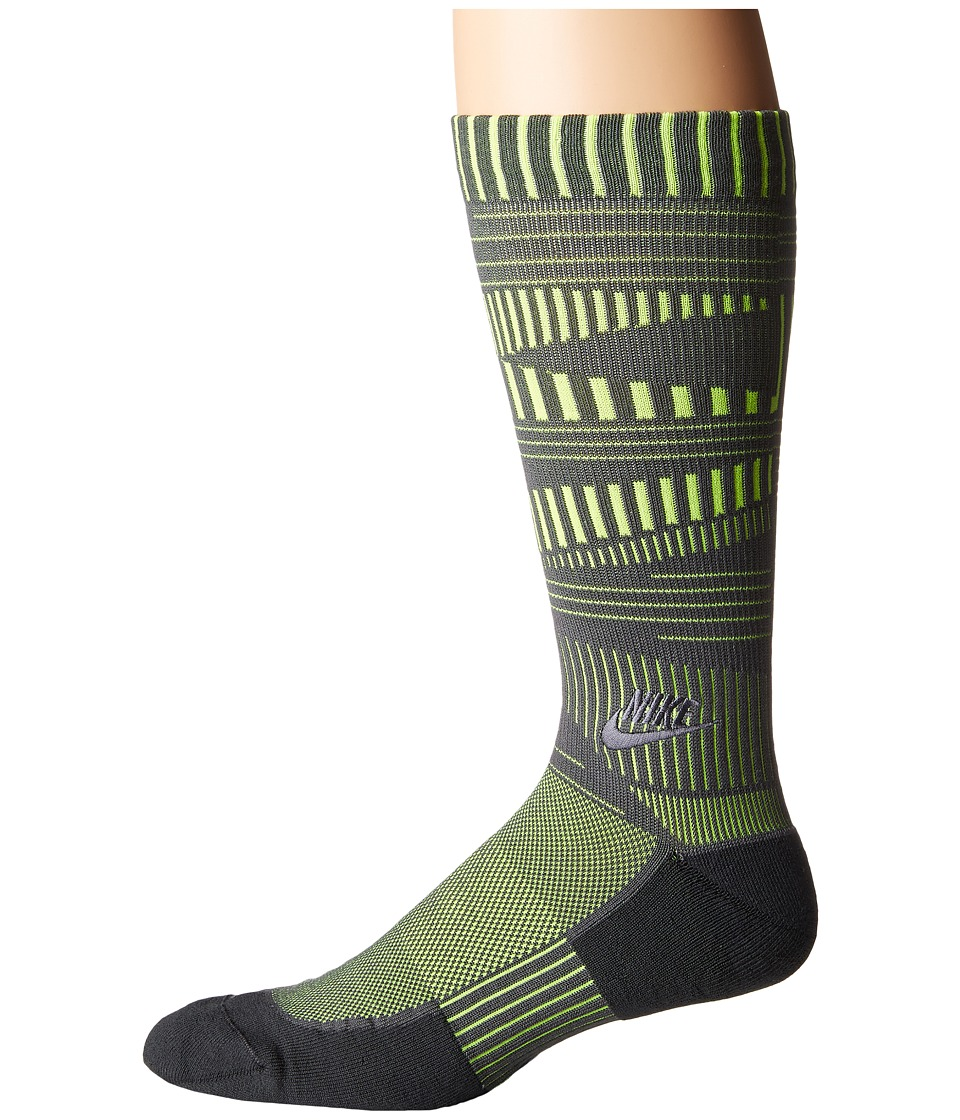 Nike - Air Crew Sock (Dark Grey/Volt/Anthracite) Men's Crew Cut Socks Shoes