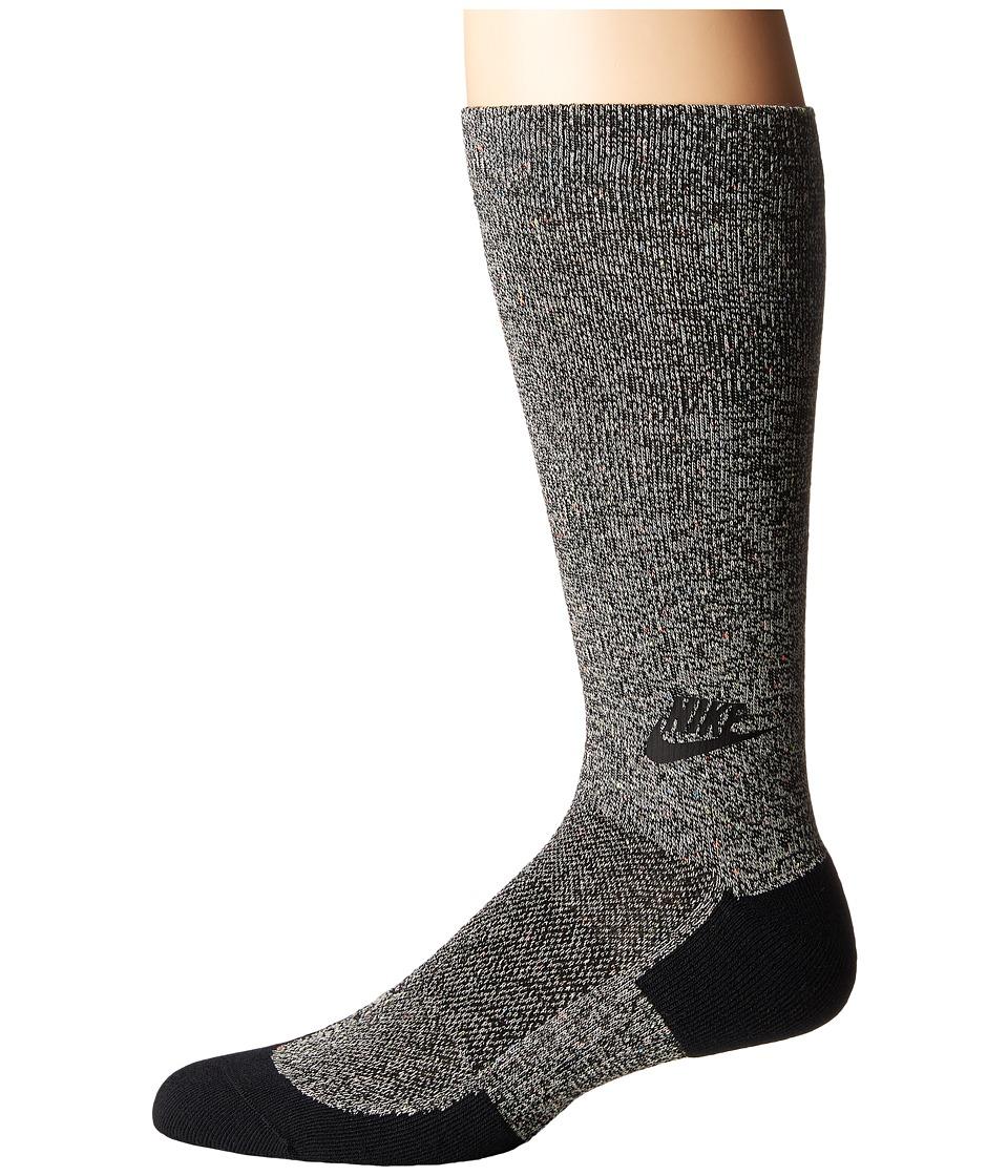 Nike - Tech Pack Crew Sock (Black/Black/Black) Men's Crew Cut Socks Shoes