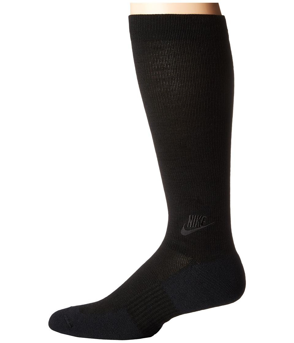 Nike - Lightweight Warmth Sock (Dark Grey/Black/Black) Men's Crew Cut Socks Shoes