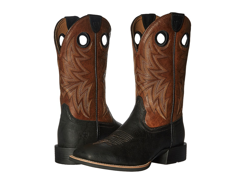 Ariat Heritage Cowhorse (Moonless Night/Wood) Cowboy Boots