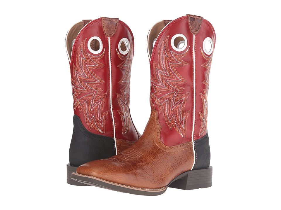 Ariat Heritage Cowhorse (Gingersnap/Cardinal Red) Cowboy Boots
