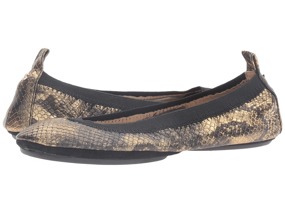 Yosi Samra - Samara Python Lame (Black) Womens Shoes