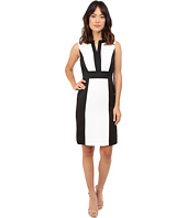 Tahari by ASL - Color Block Faille Sheath Dress