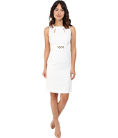 Tahari by ASL - Jacquard Sheath Dress w/ Cut Outs and Belt