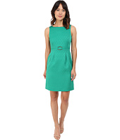 Tahari by ASL - Jacquard Sheath Dress w/ Gold Waist Hardware