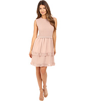 RED VALENTINO - Cotton Yarn Lingerie Stiching & Point D'Esprit Dress
