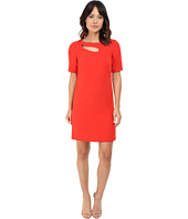 Tahari by ASL - Sleeved Shift Dress w/ Bodice Cut Out