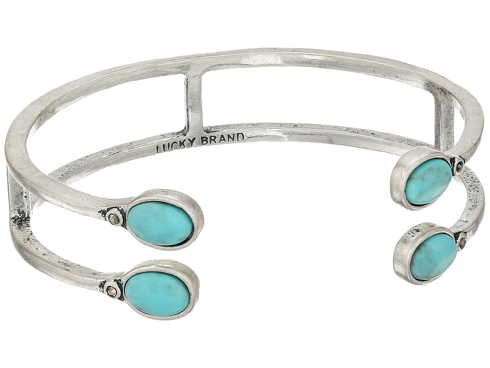 Lucky Brand Set Stone Turquoise Bracelet Medium Grey Bracelet
