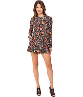RED VALENTINO - Fancy Flower Print Macrocaine Romper