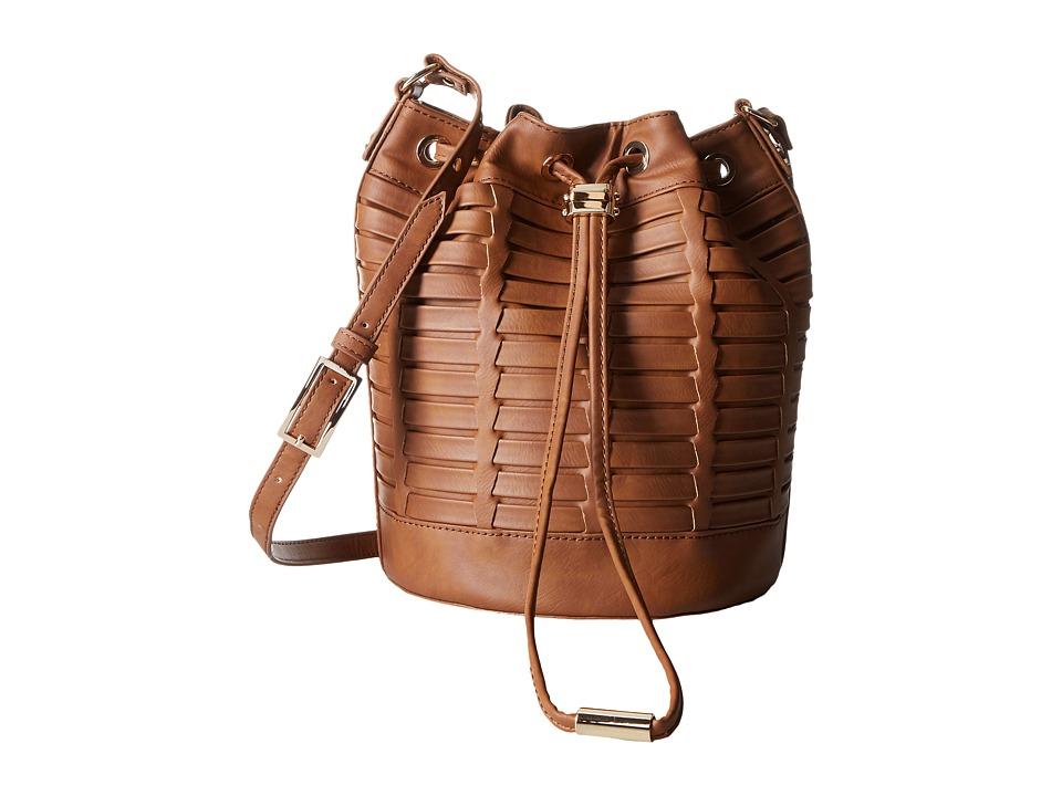 Steve Madden - Bleanna Woven Bucket (Cognac) Handbags