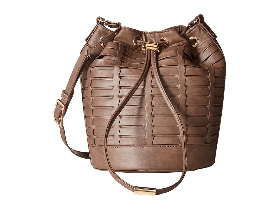 Steve Madden - Bleanna Woven Bucket (Grey) Handbags