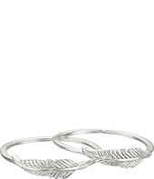 Lucky Brand - Feather Double Ring