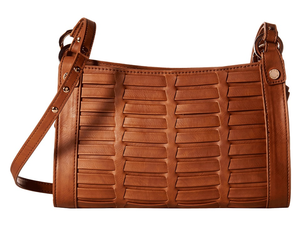 Steve Madden - Blindee Woven Crossbody (Cognac) Cross Body Handbags