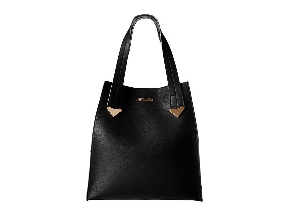 Steve Madden - Brylee Large Tote (Black) Tote Handbags