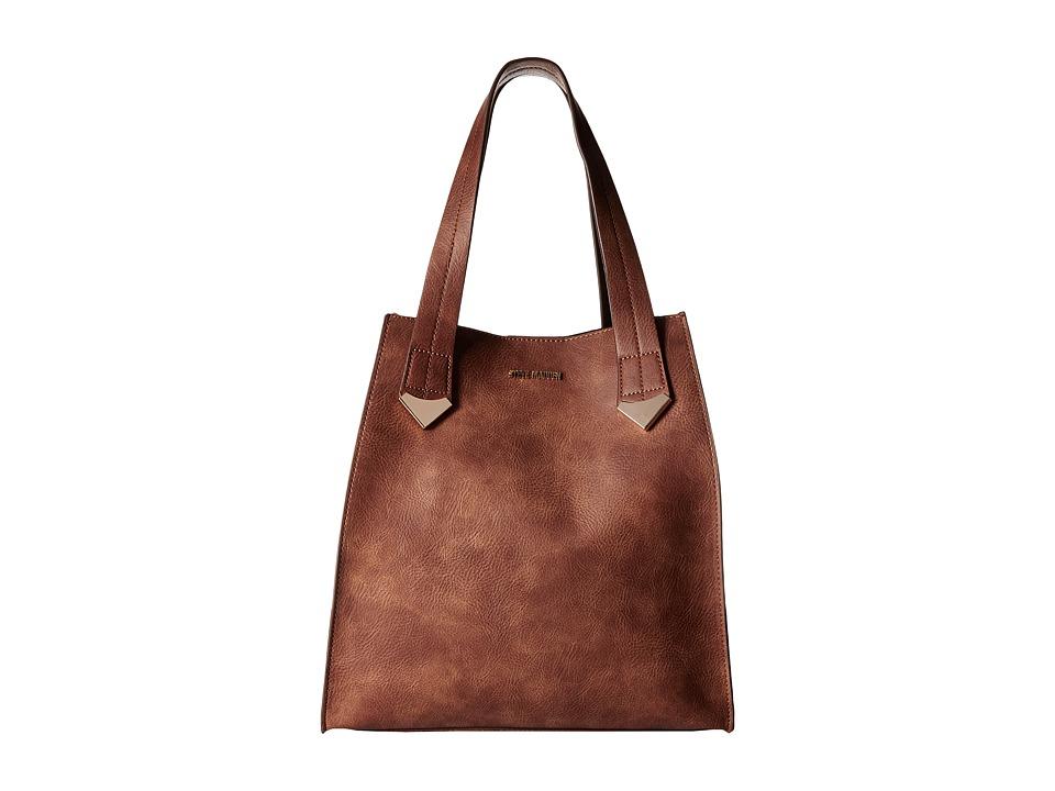 Steve Madden - Brylee Large Tote (Cognac) Tote Handbags