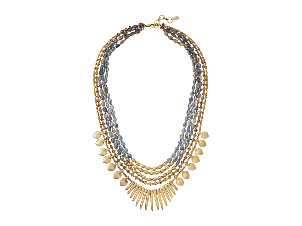 Lucky Brand Multi Layered Necklace Medium Dark Gold Necklace