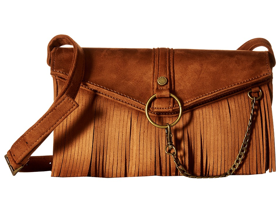 Steve Madden - Bdalenna Flap Fringe Crossbody (Chestnut) Cross Body Handbags