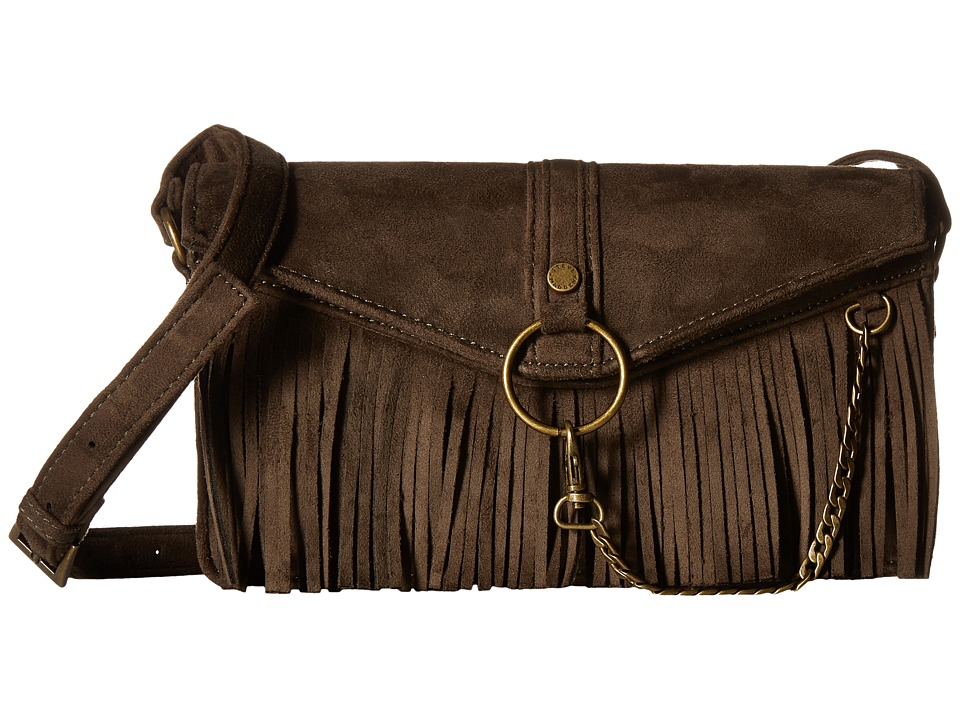 Steve Madden - Bdalenna Flap Fringe Crossbody (Olive) Cross Body Handbags