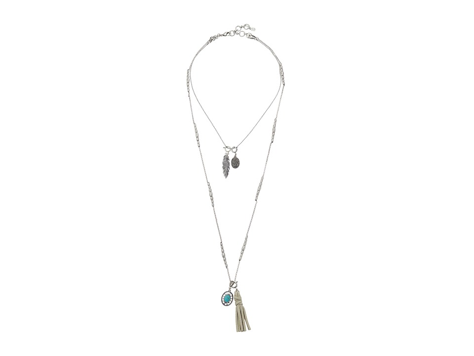 Lucky Brand - Lucky Layers Necklace (Medium Grey) Necklace