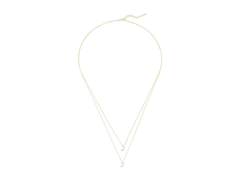 Lucky Brand Moon Layered Necklace Medium Dark Gold Necklace