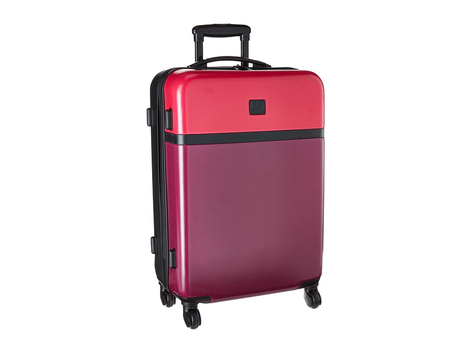 Diane von Furstenberg - Addison 24 Hardside Spinner (Dragon/Cerise/Black) Luggage