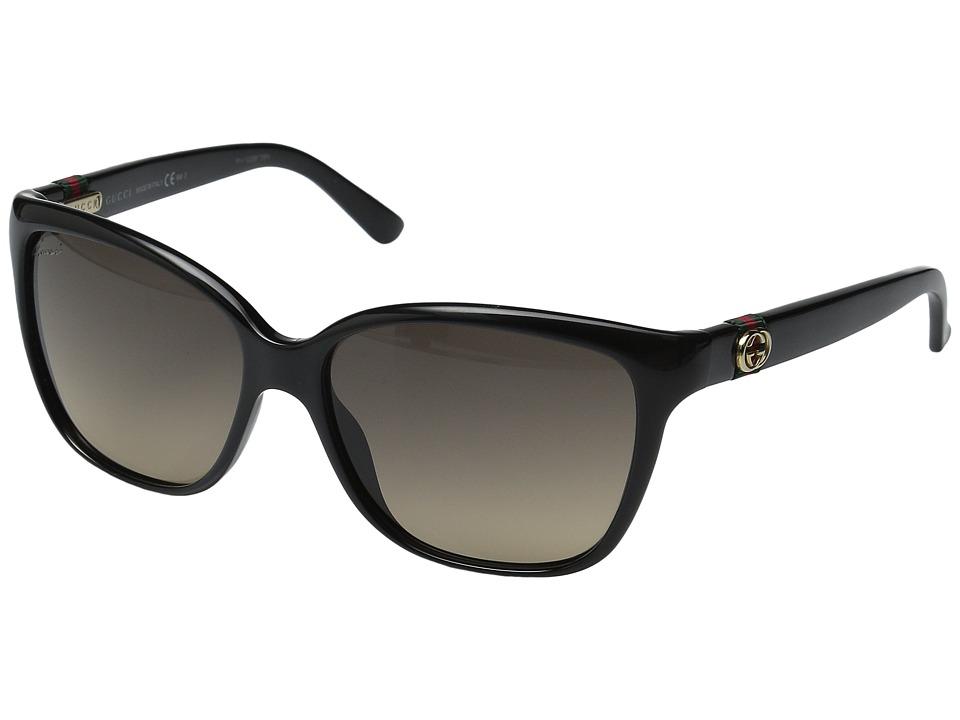 Gucci GG 3645/S Shiny Black/Brown Gradient Fashion Sunglasses