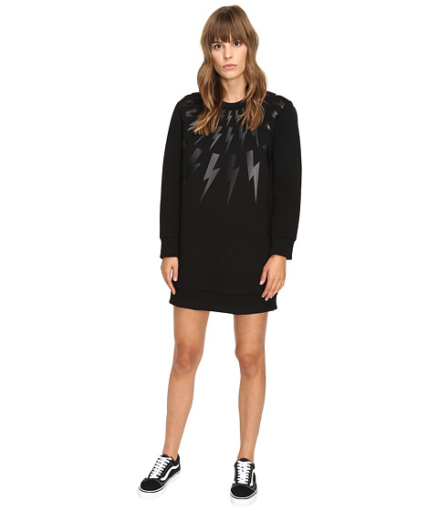 Neil Barrett Lightning Long Fairsle Sweatshirt - Black