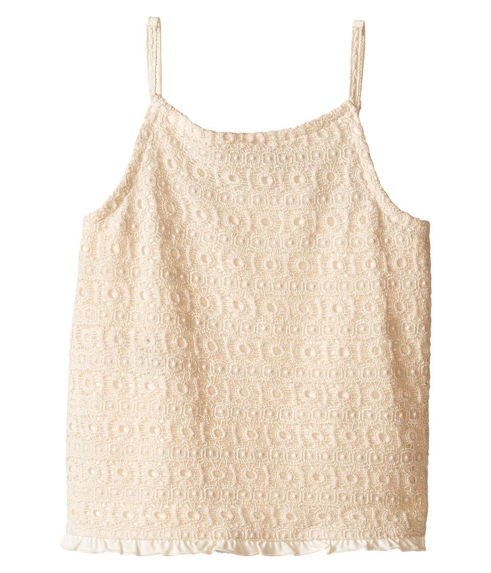 Lucky Brand Kids Abby Crochet Tank Top Big Kids Antique White Girls Sleeveless